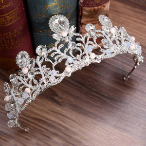 Unique Handmade Bridal Tiaras With Pink Diamond