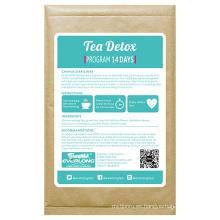 100% Té herbario orgánico del Detox que adelgaza el té de la pérdida del peso del té (impulso de la mañana)