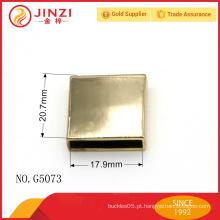 China fabricante personalizado luz ouro quadrado bolsa metal clip cabo de cabo