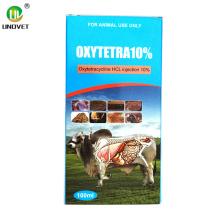 Injeção de oxitetraciclina a 10% para veterinária
