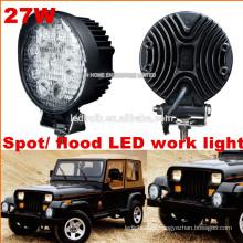Venta caliente CE ROHS 27W Luz de trabajo led, SUV ATV Offroad Jeep Led Luz de trabajo