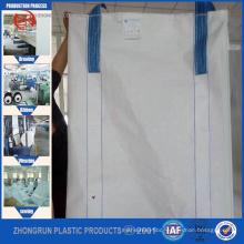 China factory high quality bulk bag PP big bag, FIBC bag , super sack 1 ton , open top and bottom discharge 100% new PP