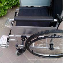 Polvo más grueso de la capa marco de acero sillas de ruedas