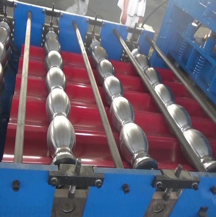 Metal tile shaping machine