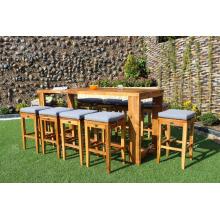 Ensemble de bar en bois de haute classe pour meubles de jardin extérieur