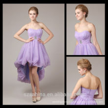 wholesale Light purple bridesmaid dress asymmetrical cheap long evening dresses