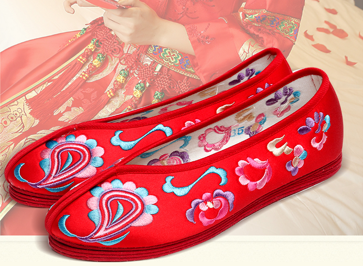 hand embroidered women's shoes