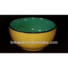KC-00575 bol en porcelaine en couleur unie