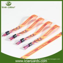 Kundenspezifisches Satindruckarmband für Hochzeitsgeschenk