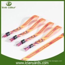 Custom Satin printing wristband for wedding gift