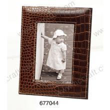 Especial de cuero clásico marco de fotos para la decoración del hogar