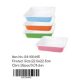 Colorful ceramic square pan