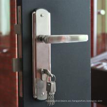Cerradura de puerta antirrobo de alta calidad, cerradura de la manija de la puerta del diseño, cerradura de puerta en Guangzhou