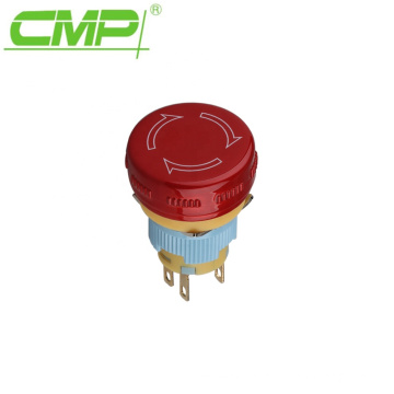 16mm Red Top Waterproof Stop Switch