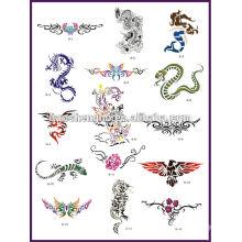Airbrush tatuagem estêncil livro