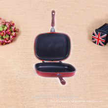 hot sale product enameled double side grill pan