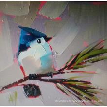 Peinture à l'huile d'oiseau abstraite