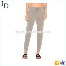 Pantalon de survêtement élastiqué à cordon de serrage à la taille pour femmes