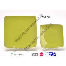 Grüne quadratische Platte
