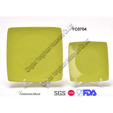 Зеленая квадратная пластина