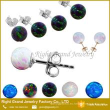 Nuevo modelo Stud Earring Synthetic Opal Jewelry Hermosos diseños de pendientes para mujeres
