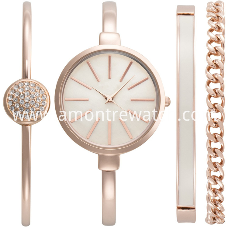 lady watch set- white