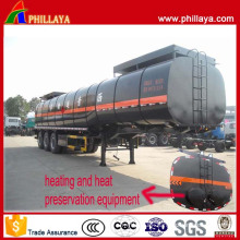 30-50 M3 Tri-Axle Heated Bitumen Transport Asphalt Tanker Trailer