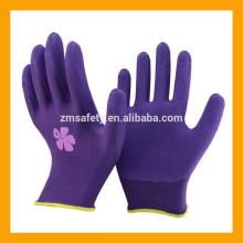 13 guantes impresos látex del trabajo de la mano del látex de la espuma del trazador de líneas impreso