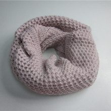 Girls Pink Jacquard Loop Scarf Atacado