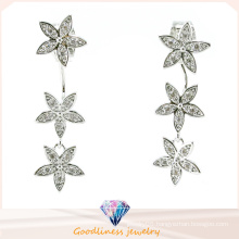 Good Quality &Star Pattern Design Fashion Jewelry China Whole Jewelry 3A CZ 925 Silver Jewelry Earring (E6522)