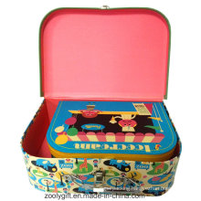 Full Color Printing Paper Cardboard Suitcase Toy Storage Box