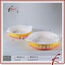 colored glaze ceramic oven tray
