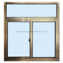 Fenêtre coulissante en aluminium de verre trempé laminé de sécurité en gros de Feelingtop (FT-W80 / 126)