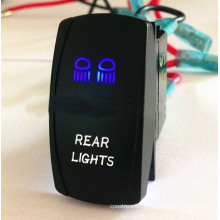 12V-24V Blue and White LED Rear Lights Car Rocker Switch