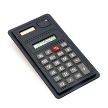 Fake Solar Card Small Screen 8 Digital Pocket Calculator