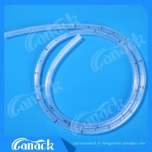 Tube de drainage thoracique en silicone de qualité médicale