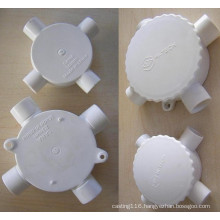 CNC machining with plastic and aluminum part