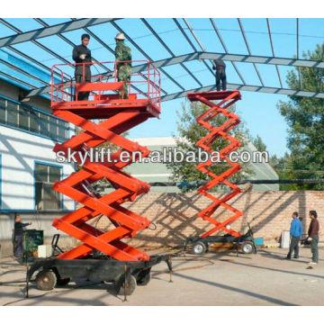 Plataforma de elevador de tesoura rebocável para venda