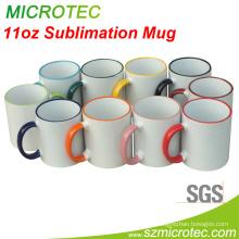 11oz Sublimation Two-Tone Mug - Fringe Orange