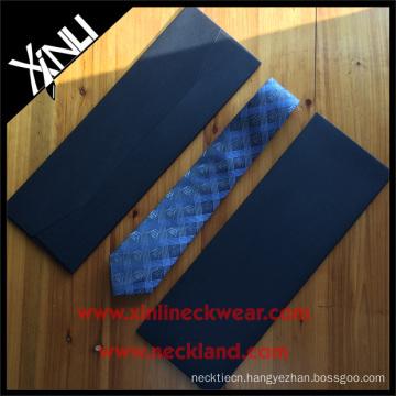 Custom Necktie Packaging Boxes in Black Envelope Cardboard Tie Box