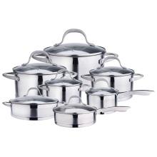 Ensemble de casseroles et poêles en acier inoxydable de 14 pièces