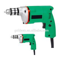 Vente à chaud de marché de l'Inde 10mm 350w Power Hand Drill Machine Perceuse électrique portable 10mm