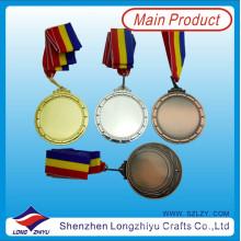 Medalhas de metal em branco Medalhas personalizadas Design com seu próprio logotipo