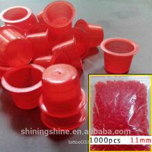 1000pcs per bag High Quality Cheap Plastic Tattoo Ink Cap Medium