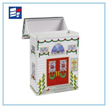 Cardboard paper house shape box for packaging toy