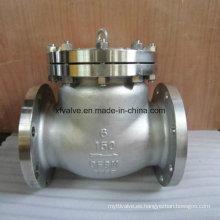 Válvula de retención de colada de extremo de brida CF8m de acero fundido de 150 lb