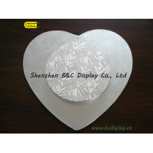 Cake Drums Gold and Silver Heart Shaped Cake Board with SGS (&C-K009)