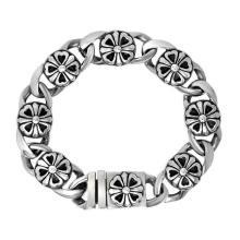 Pulseras de cadena de plata Hombre Moda Punk & Rock Stailess Steel Jewelry