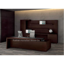 Une solution de meuble de bureau en une étape Bureau exécutif de patron présidentiel de luxe (HF-LTA138)