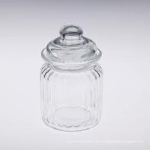 Rib Glasbehälter mit Glasdeckel
